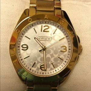 Coach gold watch approx 36mm